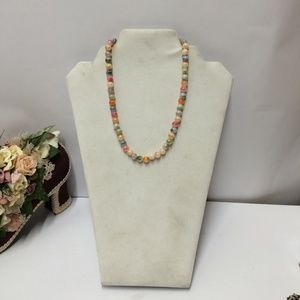 Vintage Acrylic Colorful Beaded Necklace